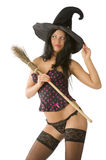 Sexy witch making face Stock Images