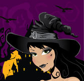 Sexy witch portrait Stock Photo