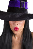 Sexy witch pouting. Stock Image