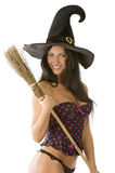 Sexy witch smiling Stock Photos