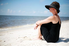 Sexy Woman. A sexy woman relaxing at the beach Royalty Free Stock Images