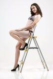 Sexy woman. A beautiful woman in bikini portrait Stock Photography