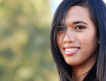 Woman. With pretty smile royalty free stock images