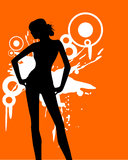 Sexy woman. Vector illustration of a woman and splashes Royalty Free Stock Photos
