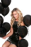 Sexy woman and balloons Royalty Free Stock Photos