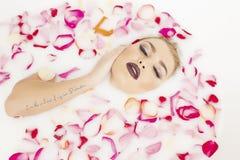 Sexy woman in bathtub Stock Photo