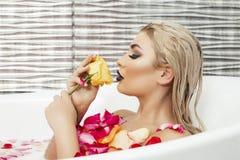 Sexy woman in bathtub Royalty Free Stock Photos