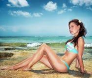 Sexy woman on the beach Stock Photo