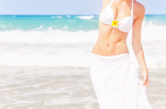 woman on the beach Royalty Free Stock Images