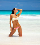 Sexy woman on the beach Royalty Free Stock Images