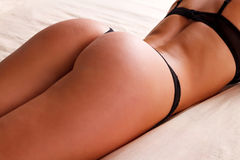 Sexy woman with beautiful buttocks Stock Photo