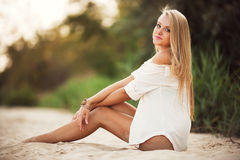 Sexy woman with beautiful eyes Royalty Free Stock Photos