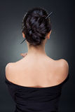 Sexy woman with beautiful hairstyle Stock Photos