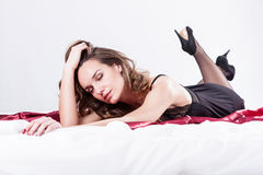 Sexy woman in bed Stock Image