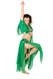 Sexy woman belly dancing Stock Photography