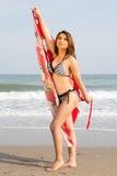 Sexy woman in bikini on the beach Royalty Free Stock Photography