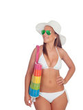 Sexy woman in bikini with sunglasses Royalty Free Stock Photos
