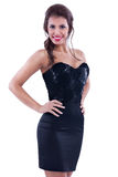 Sexy woman in black dress Royalty Free Stock Images