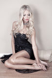 Sexy woman with blond hair Royalty Free Stock Images