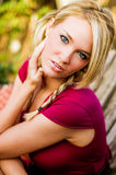 Sexy Woman - Blonde Model for Fall Fashion Stock Image