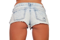 Sexy woman body in jean shorts Stock Photo