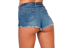 Sexy woman body in jean shorts Royalty Free Stock Image