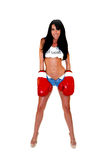 Sexy Woman Boxer Royalty Free Stock Images