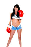 Sexy Woman Boxer Stock Image