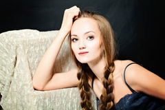 Sexy Woman with Braids Hairstyle Stock Photos