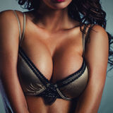 Sexy woman breast Royalty Free Stock Photography