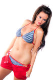 Sexy Woman - Brunette Model in swim suit Royalty Free Stock Photo