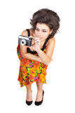 Sexy woman with camera Royalty Free Stock Image