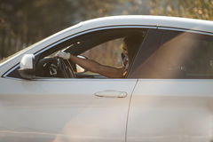 Sexy Woman In The Car Royalty Free Stock Photo