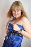 woman celebrating birthday Stock Images