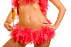 Sexy woman with champaign Royalty Free Stock Photo