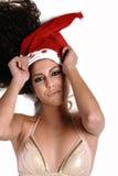 Sexy woman and christmas balls Stock Photography