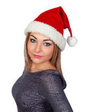 Sexy woman with a Christmas hat Royalty Free Stock Photography