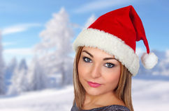 Sexy woman in Christmas Royalty Free Stock Photo