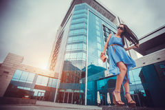 Sexy woman in the city Royalty Free Stock Photos