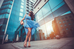 Sexy woman in the city Royalty Free Stock Images