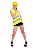 Sexy woman in construction wear Stock Image