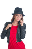 Sexy woman with cool hat Royalty Free Stock Photography