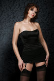 Sexy woman in corset and stockings Royalty Free Stock Photography