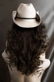 Sexy Woman in a Cowboy Hat Royalty Free Stock Image
