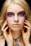 Sexy woman with creative makeup Royalty Free Stock Images