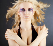 Sexy woman with creative makeup Royalty Free Stock Photo