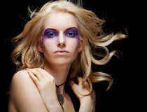 Sexy woman with creative makeup Royalty Free Stock Image