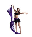 Sexy woman dance with veil isolated Royalty Free Stock Photo