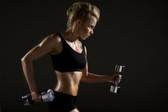 woman doing physical exercise Stock Image