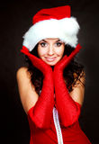 woman dressed as Santa Royalty Free Stock Images
